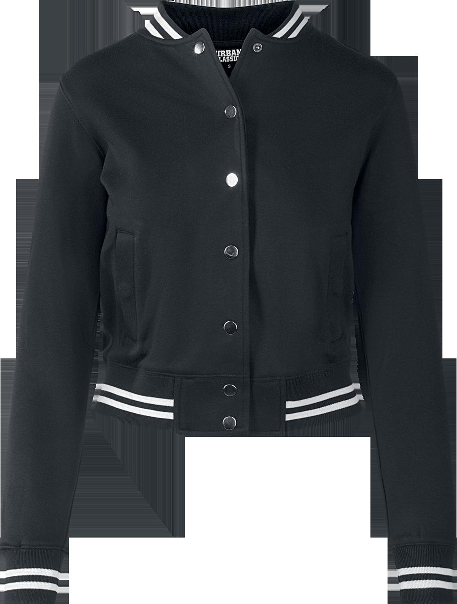 Urban Classics - Ladies College Sweat Jacket - Collegejacke - schwarz/weiß