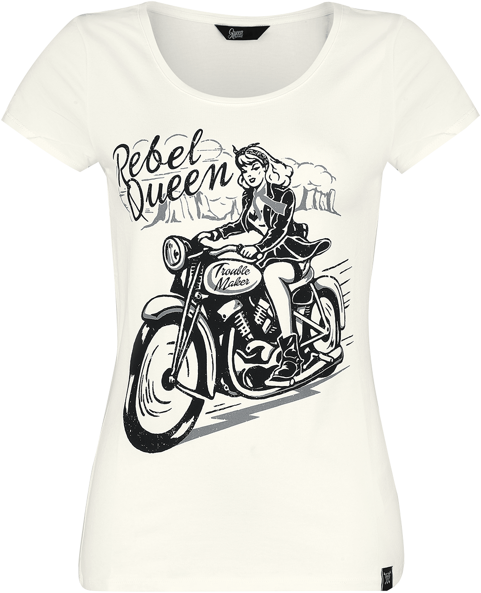 Queen Kerosin - Rebel Queen - T-Shirt - weiß