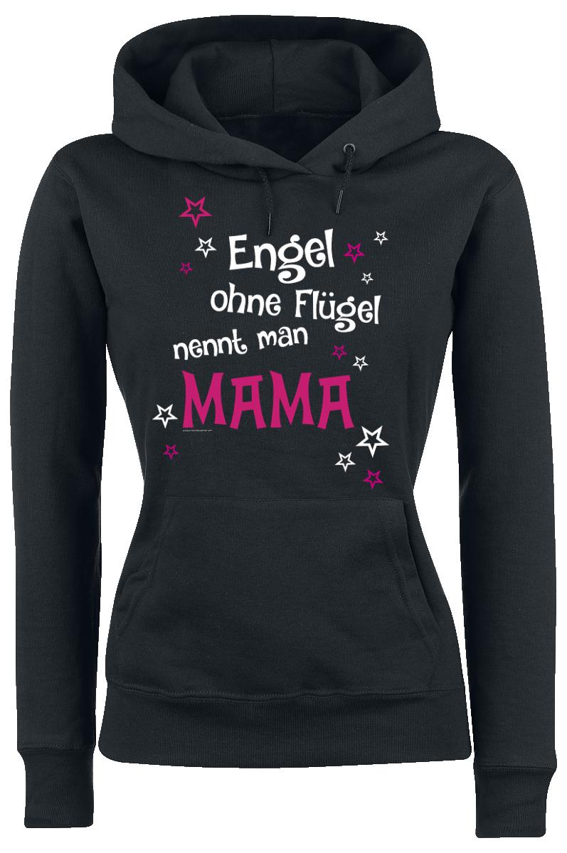 Familie und Freunde - Engel ohne Flügel nennt man Mama - Kapuzenpullover - schwarz