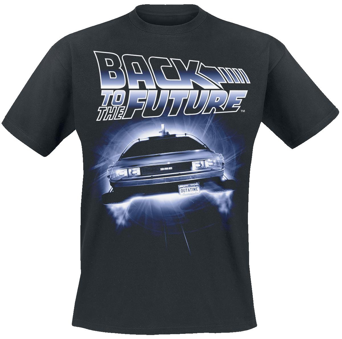 Zurück in die Zukunft - Flying Delorean - T-Shirt - schwarz