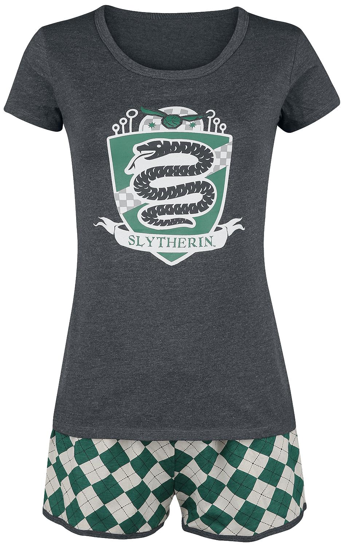Harry Potter - Slytherin Quidditch - Schlafanzug - grün/grau - EMP Exklusiv!