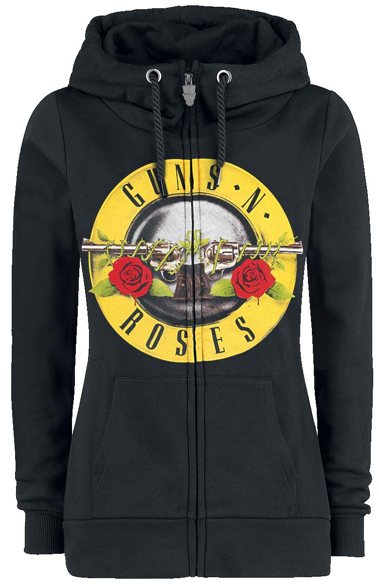 Guns N' Roses - Distressed Bullet - Kapuzenjacke - schwarz - EMP Exklusiv!