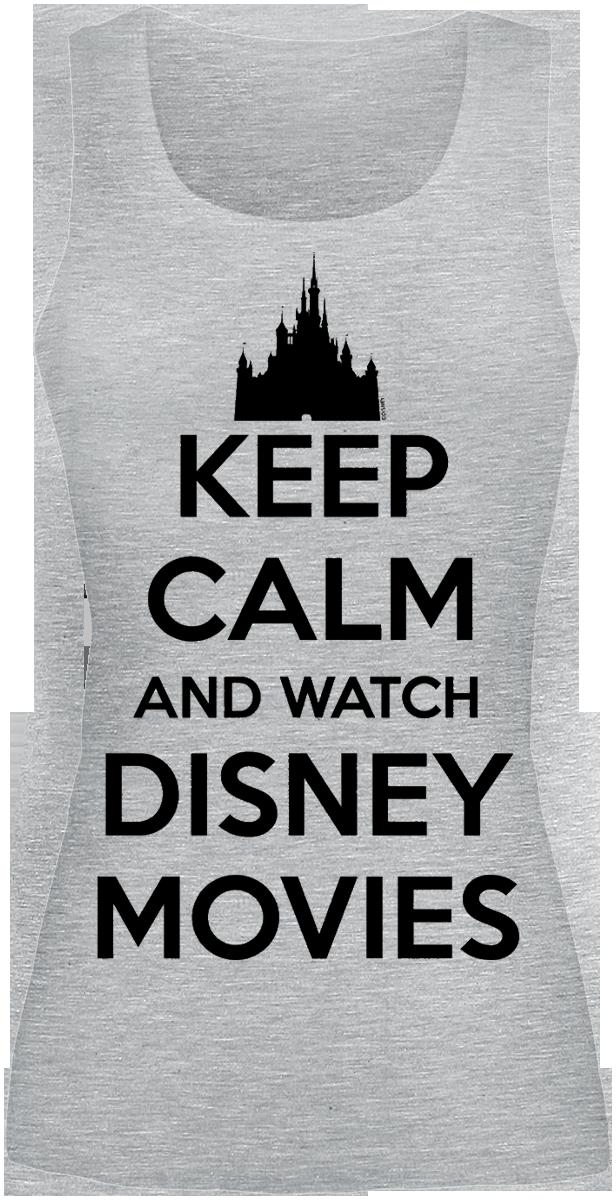 Walt Disney - Keep Calm And Watch Disney Movies - Top - grau meliert