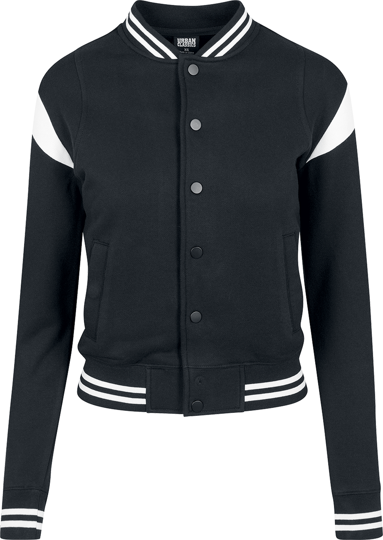 Urban Classics - Ladies Inset College Sweat Jacket - Collegejacke - schwarz/weiß