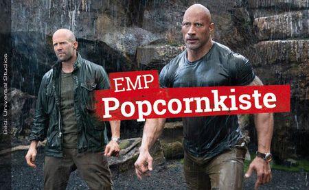Kinostarts: FAST & FURIOUS: HOBBS & SHAW und LEBERKÄSJUNKIE in der EMP Popcornkiste vom 1. August 2019