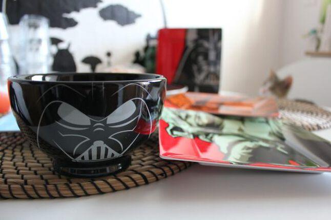 Essen mit Darth Vader, Stormtrooper, R2-D2, Joda und Chewie