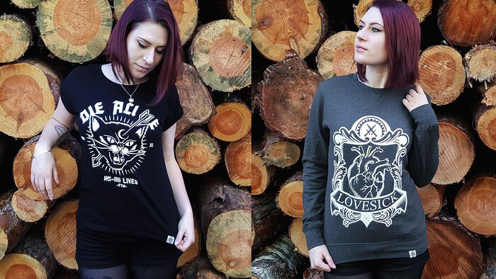 Fuchsteufelswild meets EMP – Lovesick Sweatshirt und Nine Lives T-Shirt