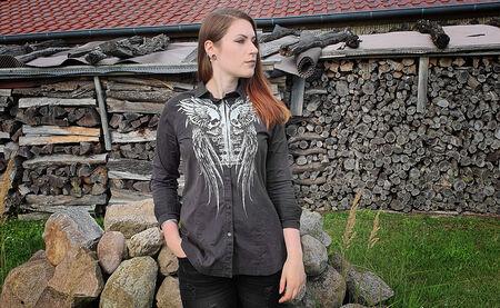 Rockiger Business Look im Hemd mit Print von Rock Rebel By EMP