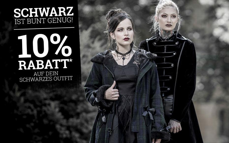 10% Rabatt* auf dein  schwarzes Outfit!