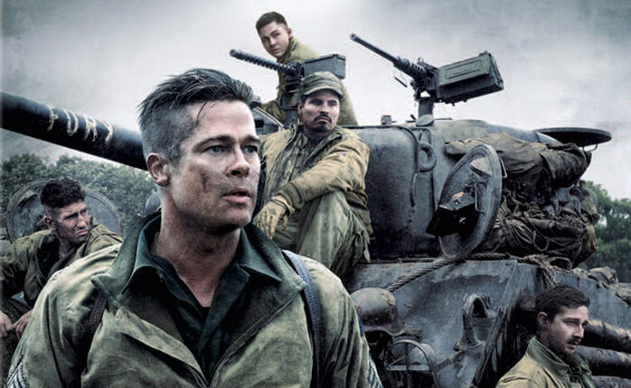Brad Pitt + Panzer = HERZ AUS STAHL