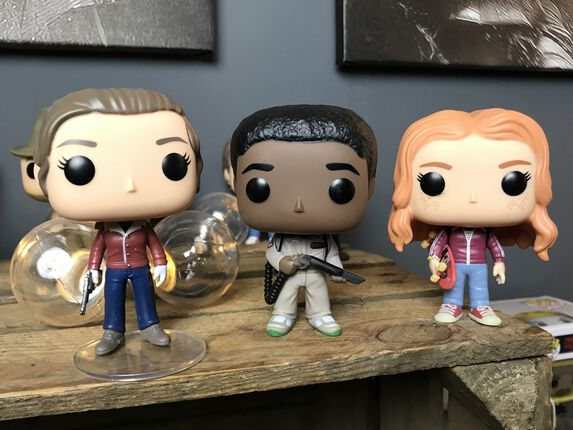 Stranger Things – Nancy, Ghostbuster Lucas und Max Pop!s