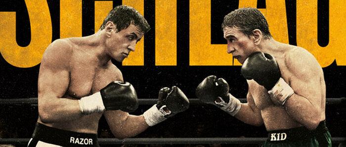 Sylvester Stallone und Robert De Niro, die ZWEI VOM ALTEN SCHLAG, haun sich im Kino auf die Glocke