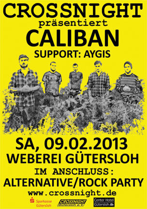 Caliban @ Crossnights in der Weberei Gütersloh