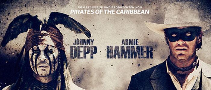 Johnny Depp macht den durchgeknallten Indianer in THE LONE RANGER