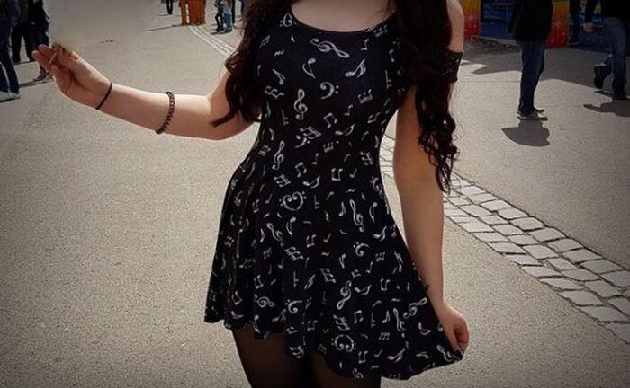 Cold Shoulder Notes Dress