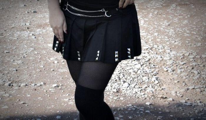 Konzert Outfit mit dem Punk Skirt von Jawbreaker