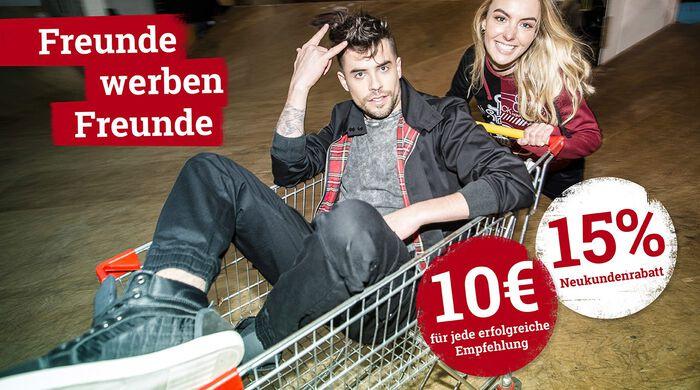 FREUNDE WERBEN FREUNDE – 10€ bar auf Kralle für dich!