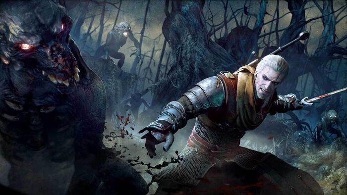 Geralt of Rivia in Monster Hunter: World