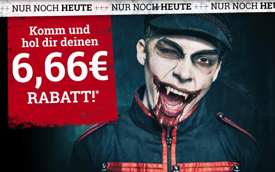 Komm und hol dir deinen 6,66 € Rabatt*