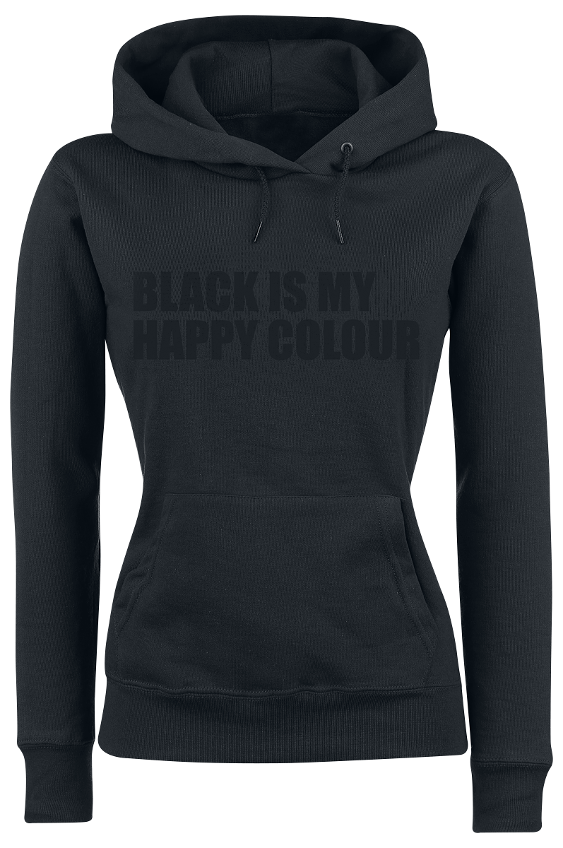 Black Is My Happy Colour -  - Girls hooded sweatshirt - black image