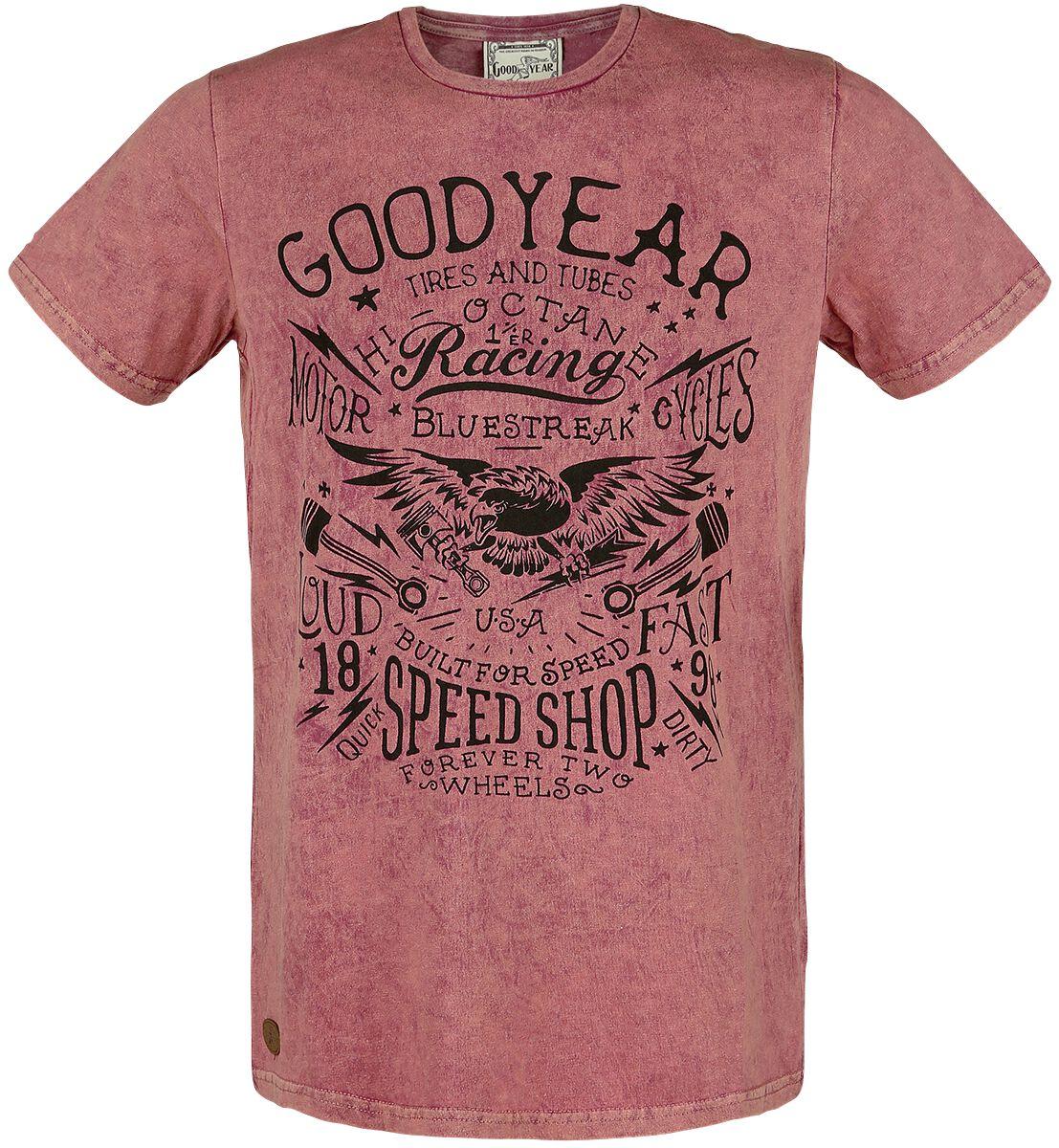 Image of GoodYear - Men T-Shirt Comfort Fit - T-Shirt - Uomo - rosso vino