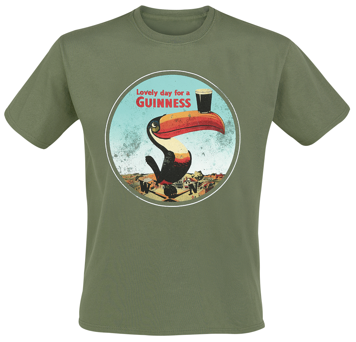 Guinness - Lovely Day For A Guinness - T-Shirt - olive image