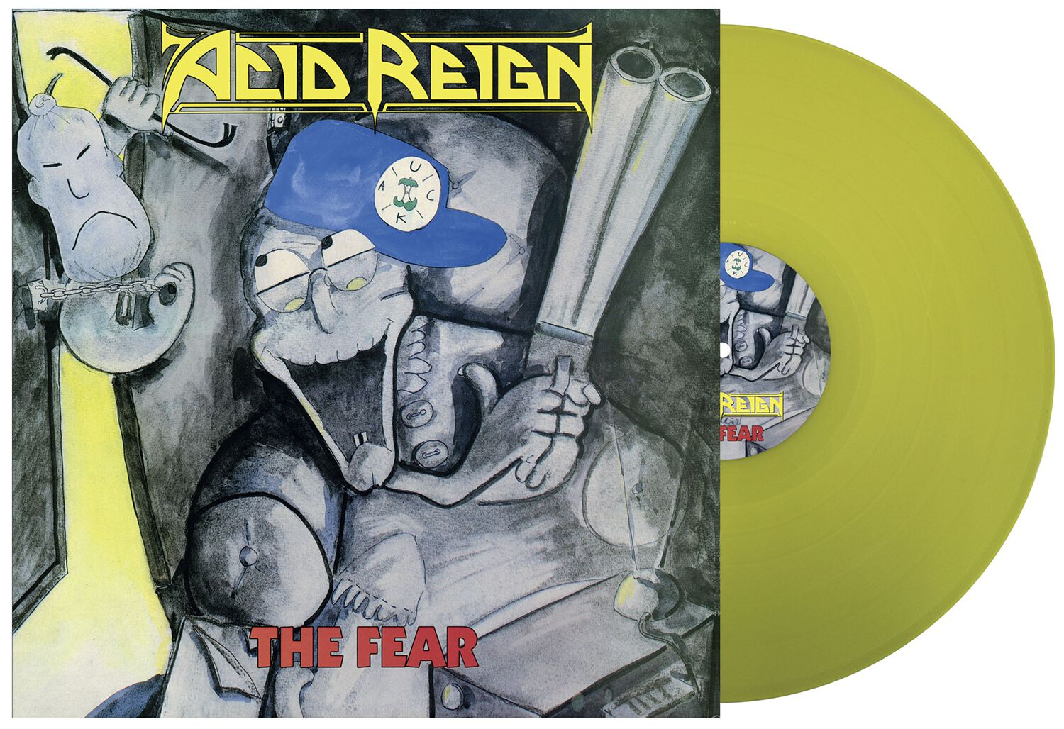 Image of Acid Reign The fear LP gelb