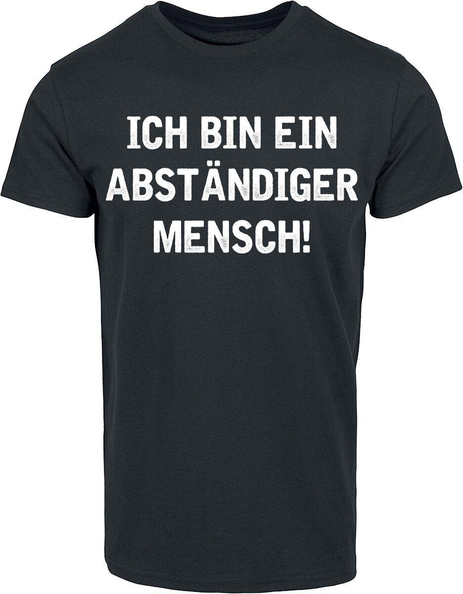 Image of Abständiger Mensch T-Shirt schwarz