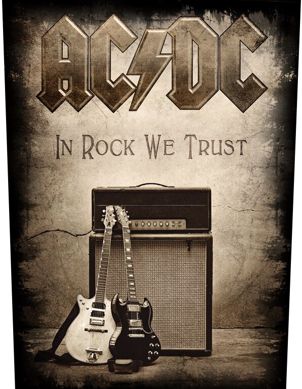 Image of AC/DC In Rock We Trust Backpatch Standard