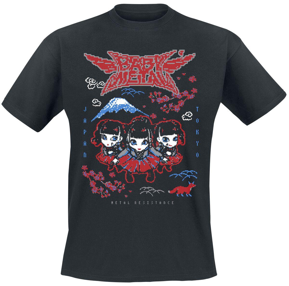 Image of Babymetal Pixel Tokyo T-Shirt schwarz