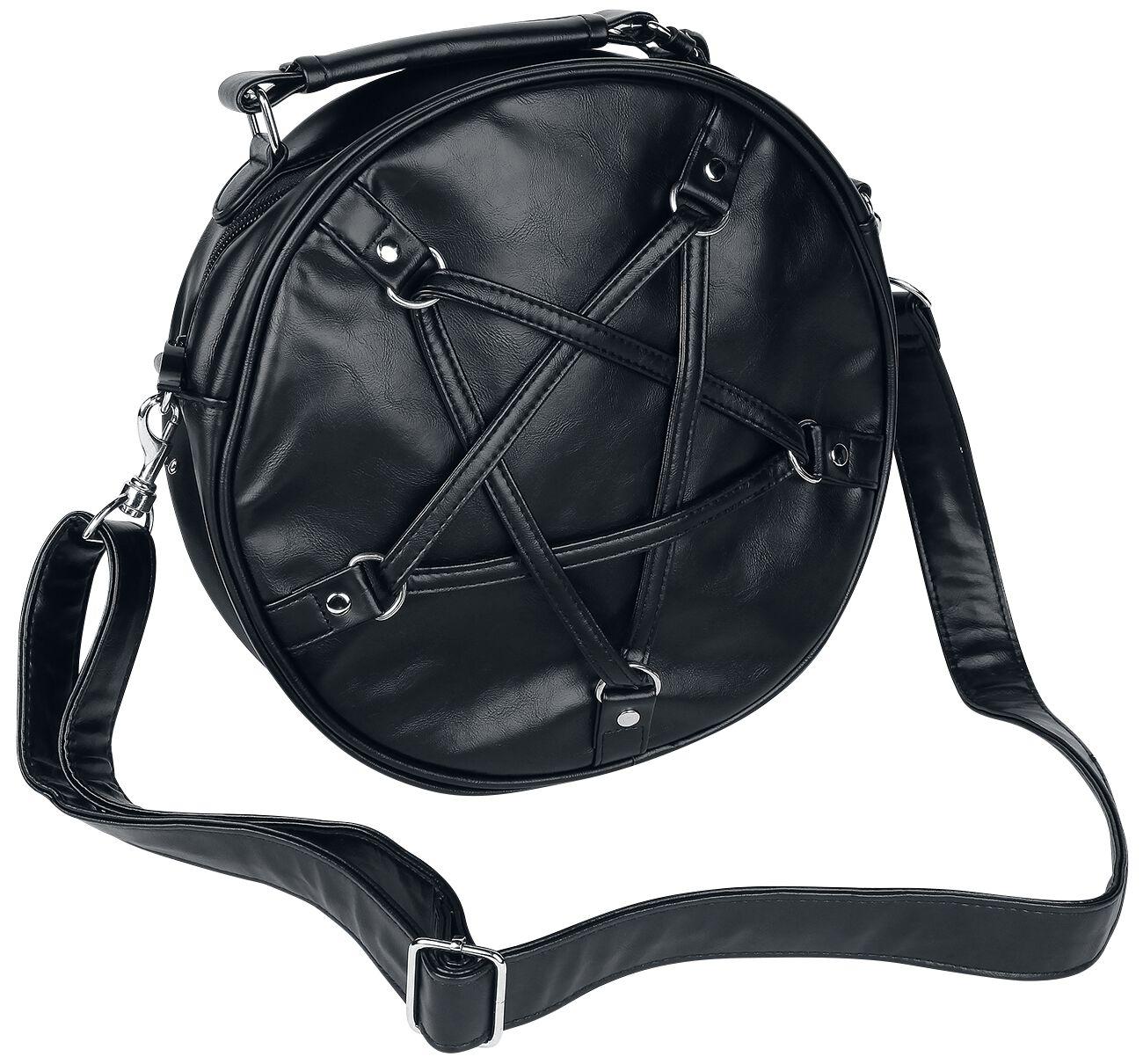 Handtaschen für Frauen - Banned Alternative Big Pentagram Handtasche schwarz  - Onlineshop EMP