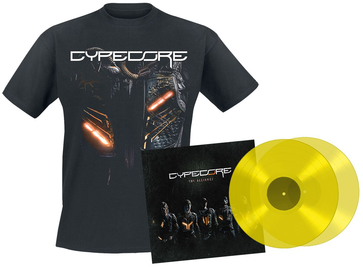 Image of Cypecore The alliance 2-LP & T-Shirt gelb