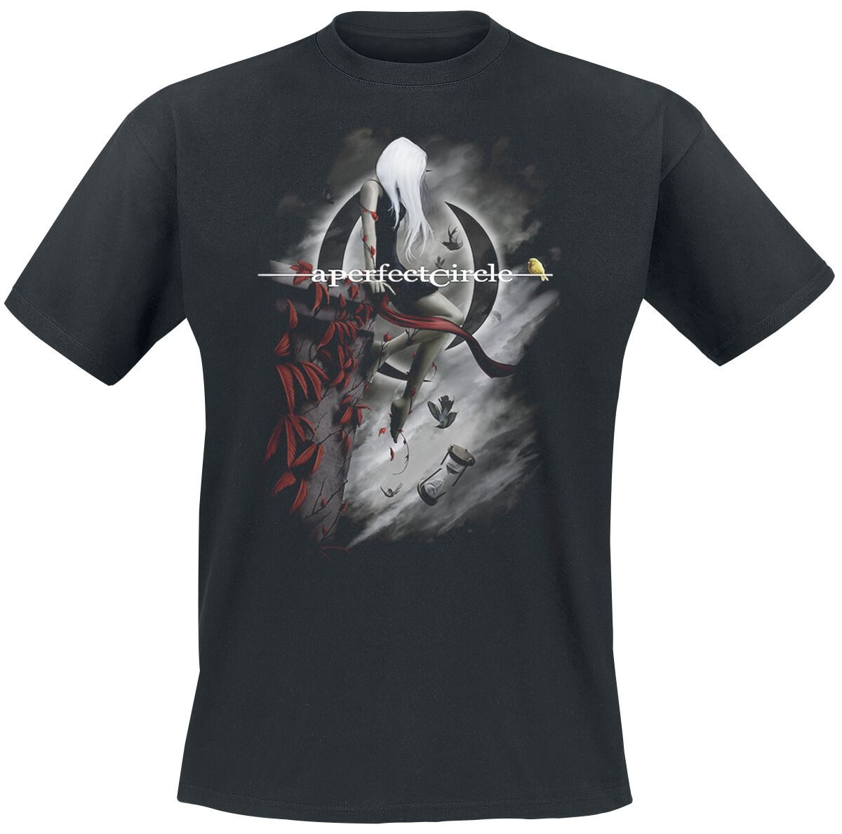 Image of A Perfect Circle Hourglass T-Shirt schwarz