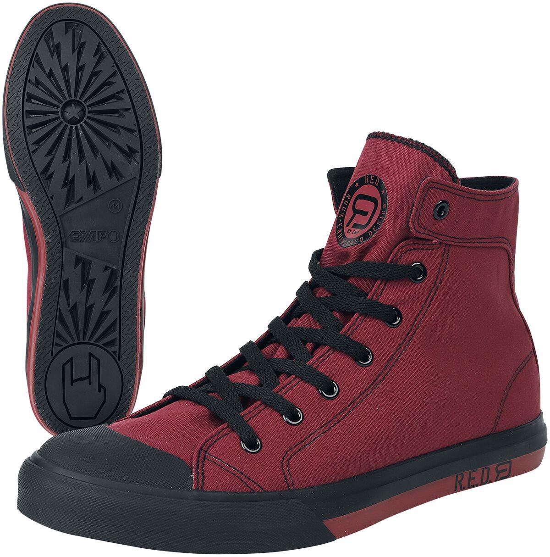 Sneakers für Frauen - RED by EMP Walk The Line Sneaker rot  - Onlineshop EMP