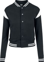 Ladies Inset College Sweat Jacket