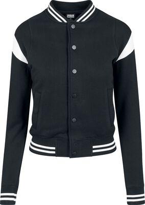 Ladies Inset College Sweat Jacket