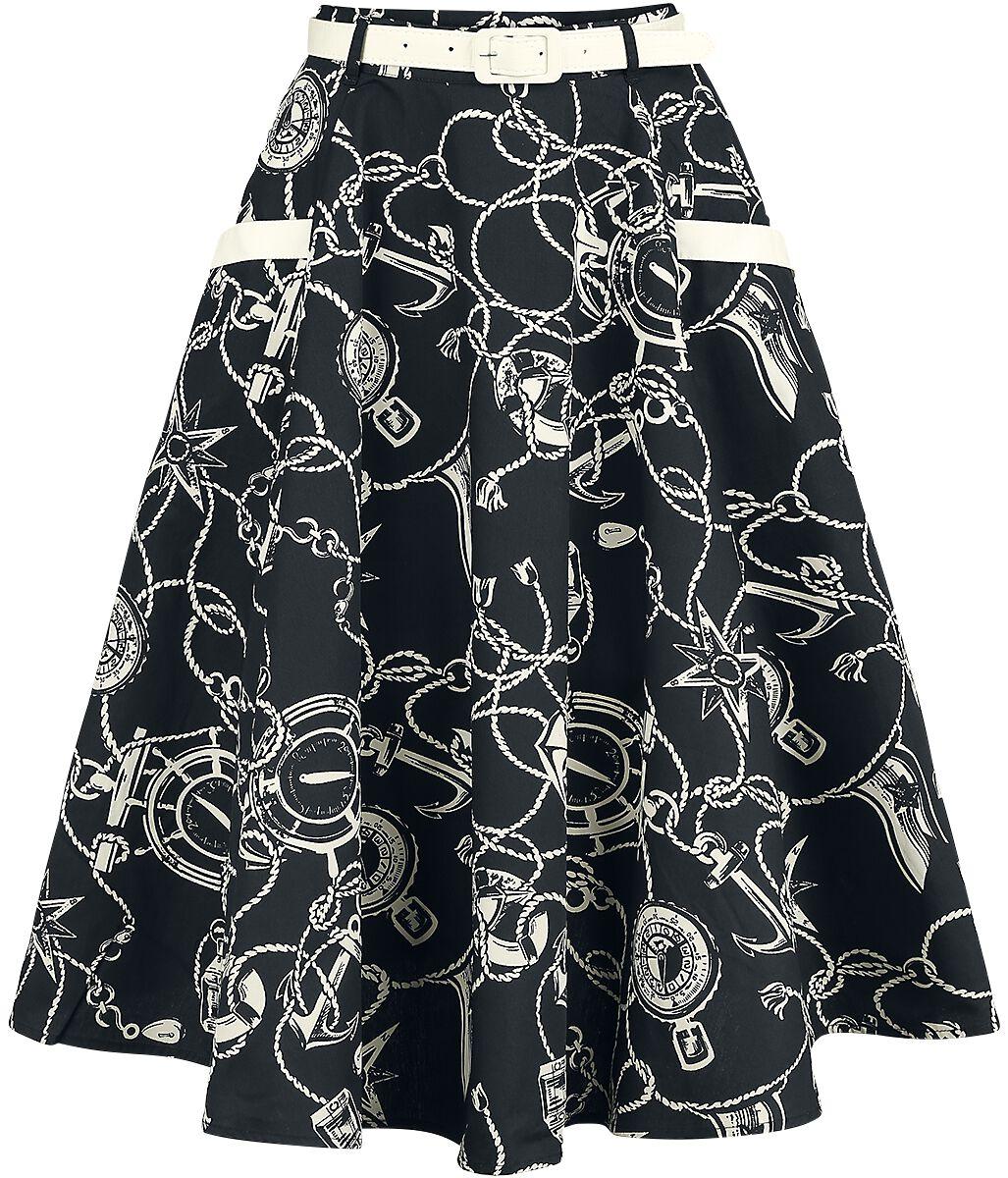 Roecke für Frauen - Hell Bunny Mistral 50's Skirt Rock schwarz  - Onlineshop EMP