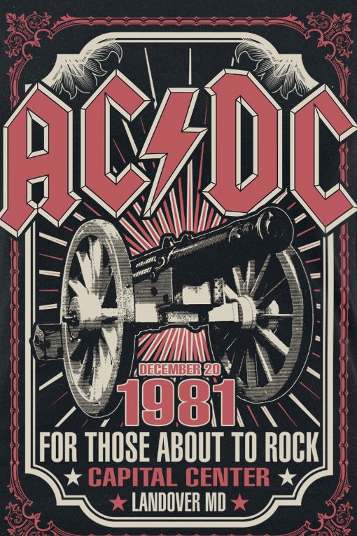 Image of AC/DC About To Rock 1981 Girl-Shirt schwarz