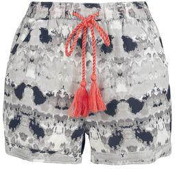 RED X CHIEMSEE - weiß/schwarze Batik Shorts