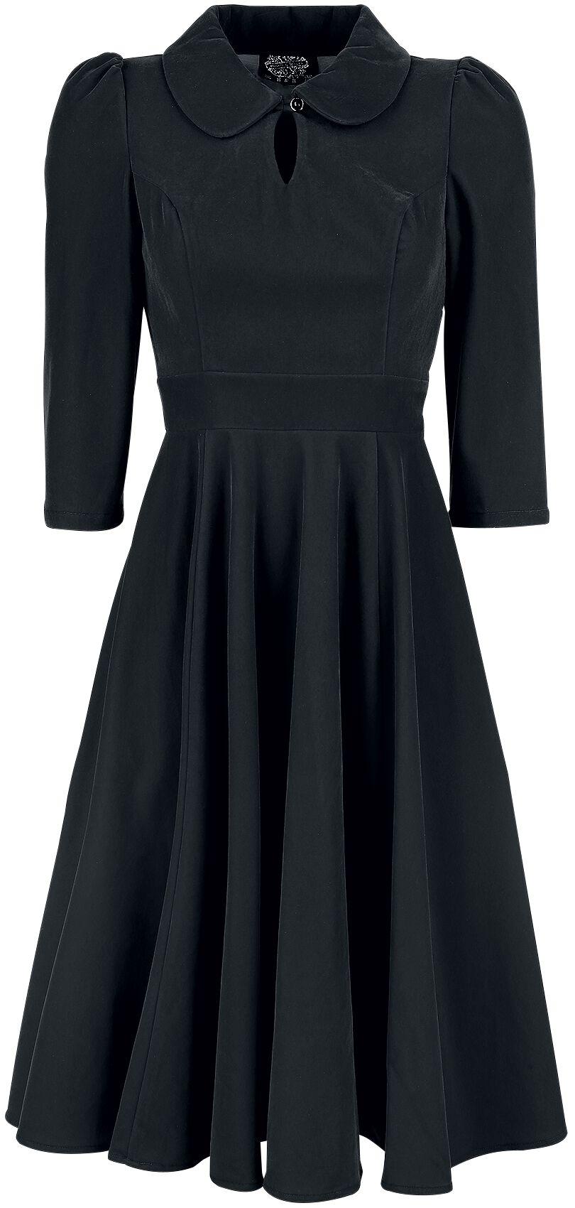 Kleider für Frauen - H R London Glamorous Velvet Tea Dress Kleid schwarz  - Onlineshop EMP