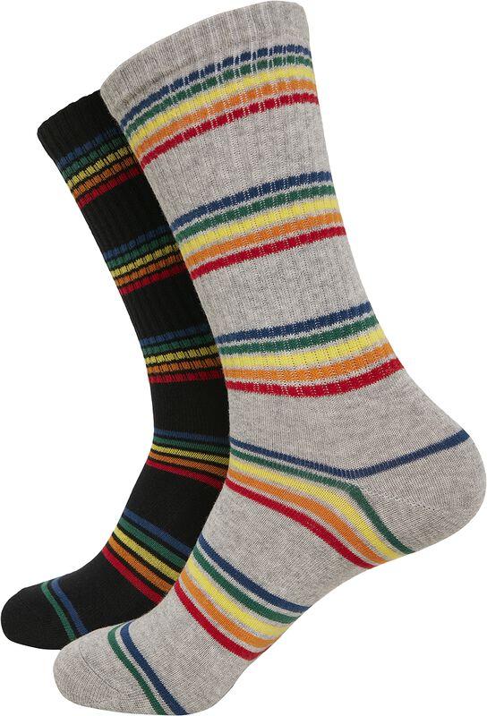 Rainbow Stripes Socks 2er Pack