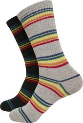 Rainbow Stripes Socks 2er Pack
