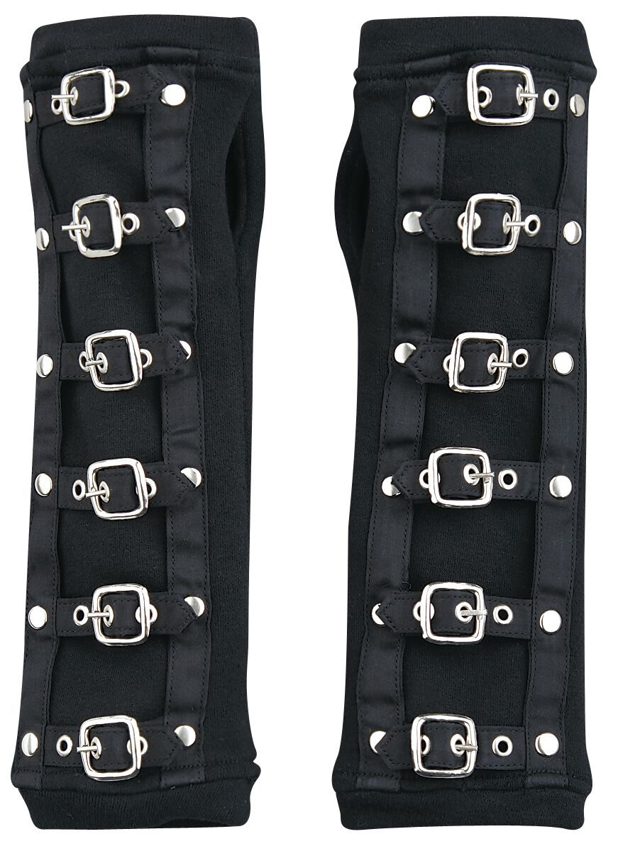 Image of Poizen Industries Buckle Cuffs Armstulpen schwarz