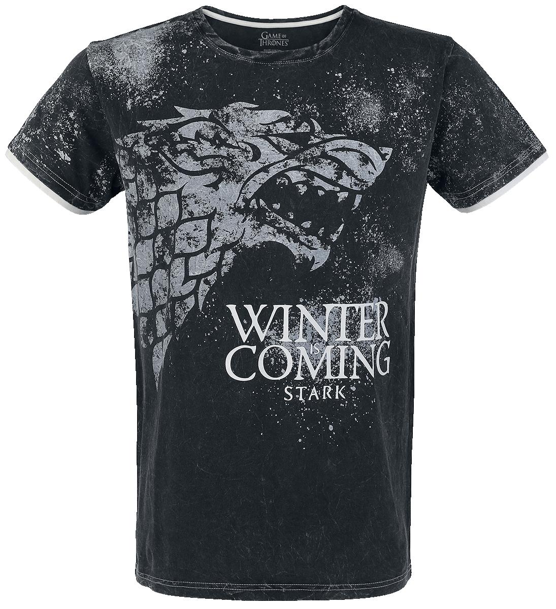 Game of Thrones - Stark - Winter Is Coming - T-Shirt - dark grey image