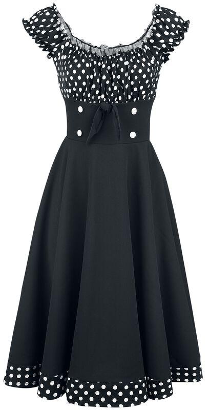 Schulterfreies Swing-Kleid
