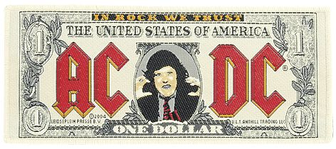 AC/DC  One Dollar  Patch  multicolor
