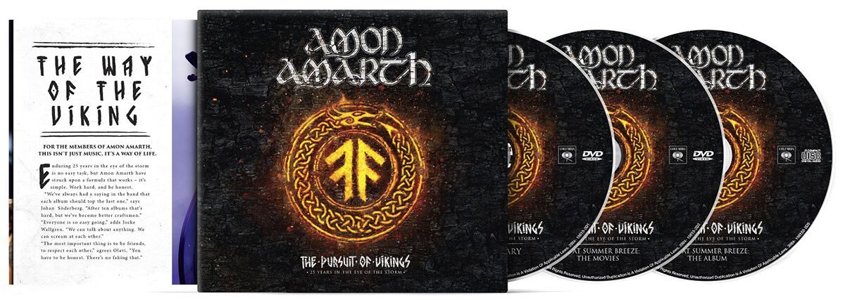 Image of Amon Amarth The pursuit of vikings: 25 years in the eye of the storm 2-DVD & CD Standard
