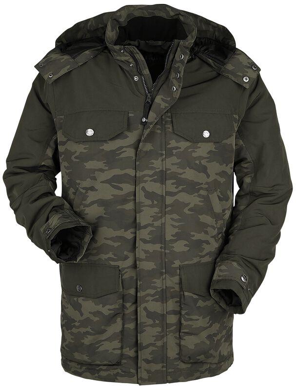 oliver Parka mit vielen Taschen und camouflage Muster