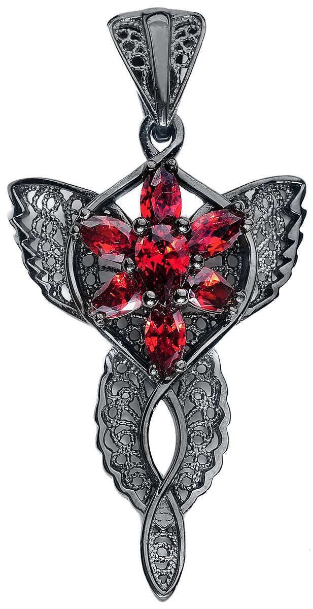 Der Herr der Ringe Arwens Abendstern Anhänger schwarz rot 20003698