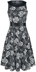 Flashy Rose Swing Dress
